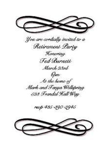Customized Retirement party invitations- partyinvitations