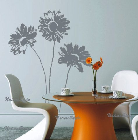 Kids Nursery Vinyl Wall Decal floral wall decals by NatureStyle, $39.00