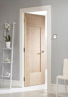 Photo of Wooden Front Doors   Wood And Glass Interior Doors   Plain White Bedroom Door 20…