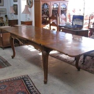 Here We Have A Lovely Parquetry Top Light Coloured Louis XV Style French Oak Extension Table In Good Original Condition