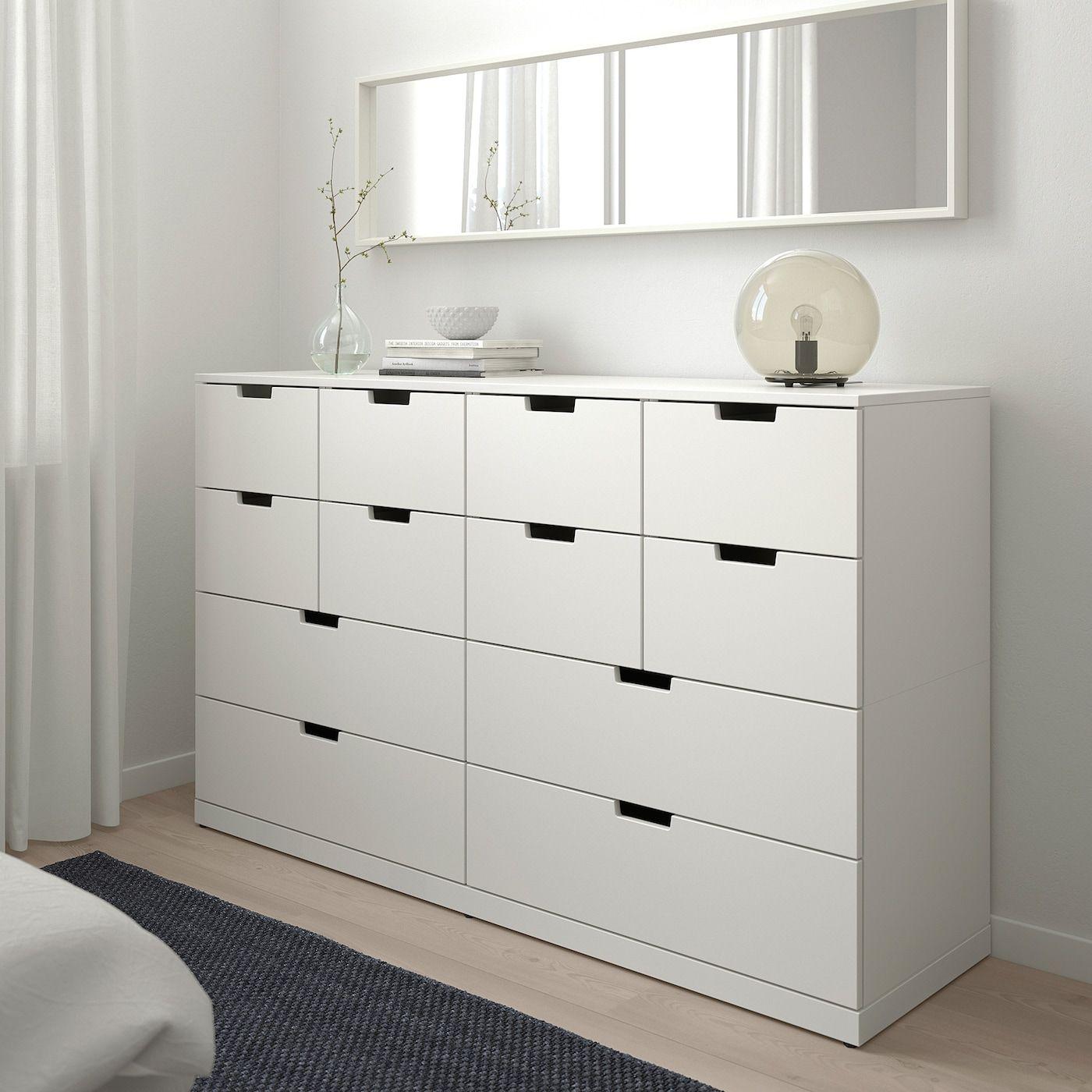 Nordli 12 Drawer Chest White Ikea Schlafzimmer Kommode Speicherideen Nordli Ikea [ 1400 x 1400 Pixel ]