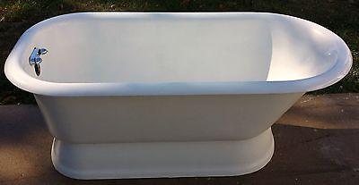 Vintage Antique Kohler Cast Iron Pedestal Bath Tub Made Usa On 11