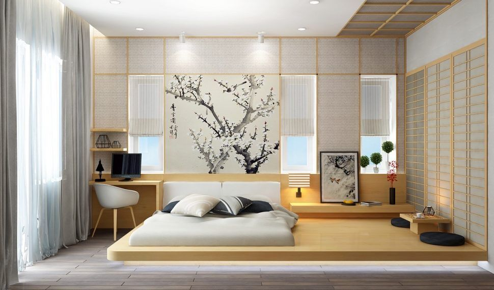 Bedroom:Japanese Style Bedroom Make Minimal Bedroom Styling Idea With  Narrow Wood Desk And Wall Mounted Wood Nightstand Creative Ideas For Minimal  Bedroom ...