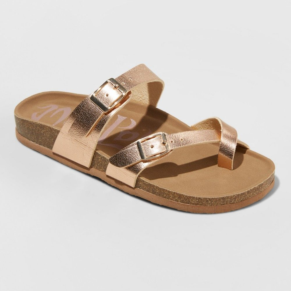 20b870304505 Women s Wide Width Mad Love Prudence Footbed Sandal - Rose Gold 6W ...