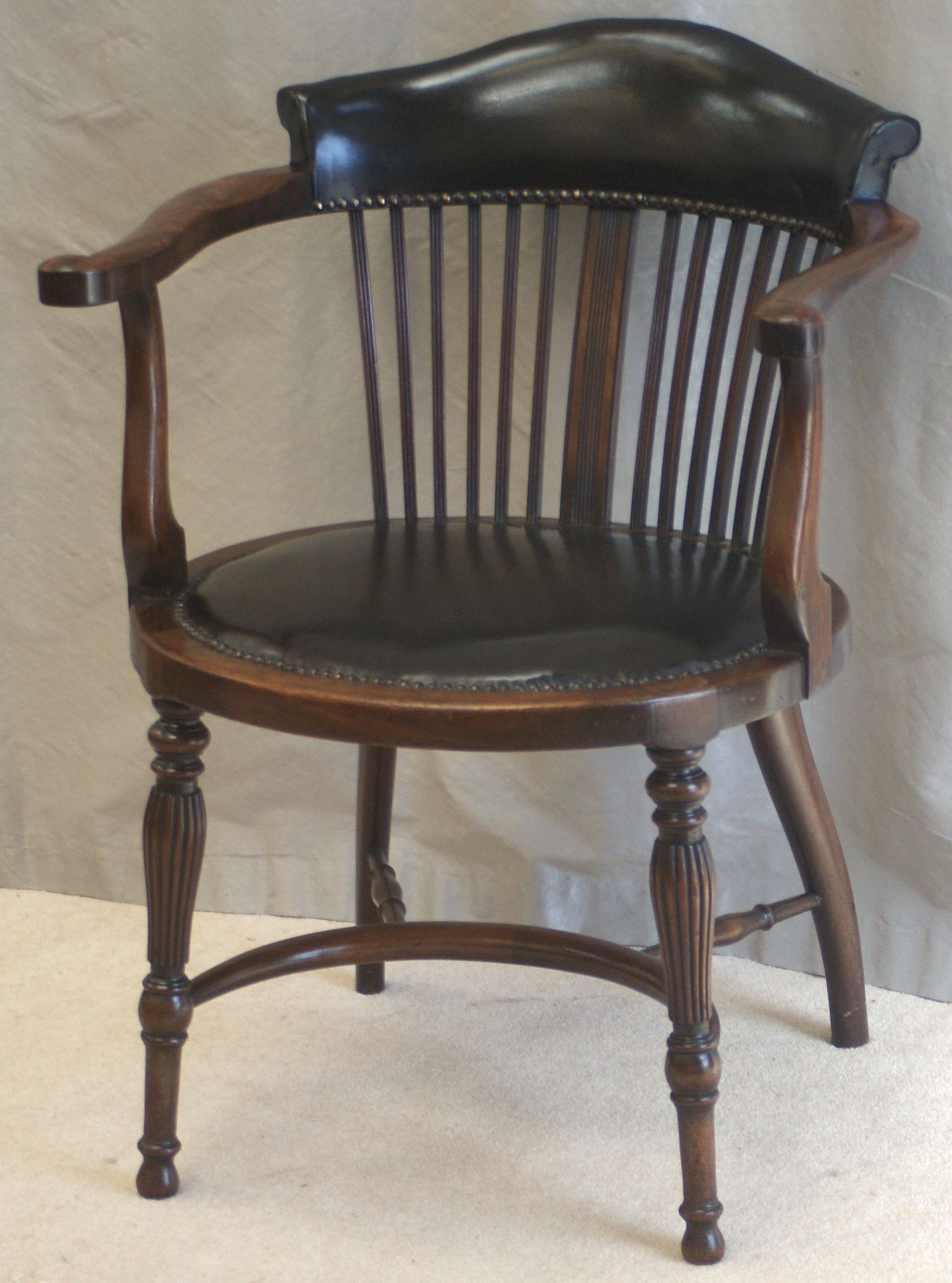 Very Rare Antique Victorian Ladies Desk Chair. Crinoline Strecher And  Beautifully Detailed Legs. Freshly