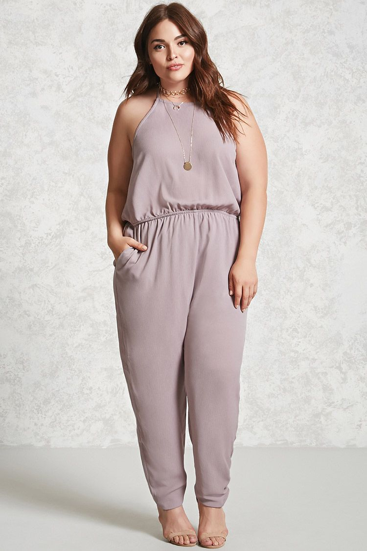 Plus Size Halter Jumpsuit Plus Size Dresses 2000093316