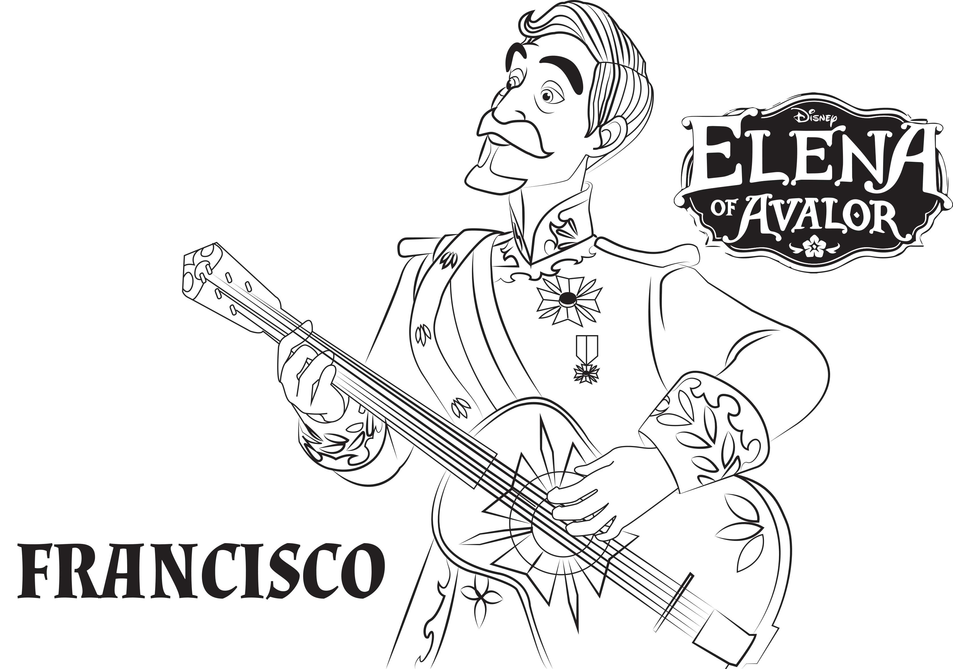 Disney\'s Elena of Avalor Coloring Pages Sheet, Free Disney Printable ...