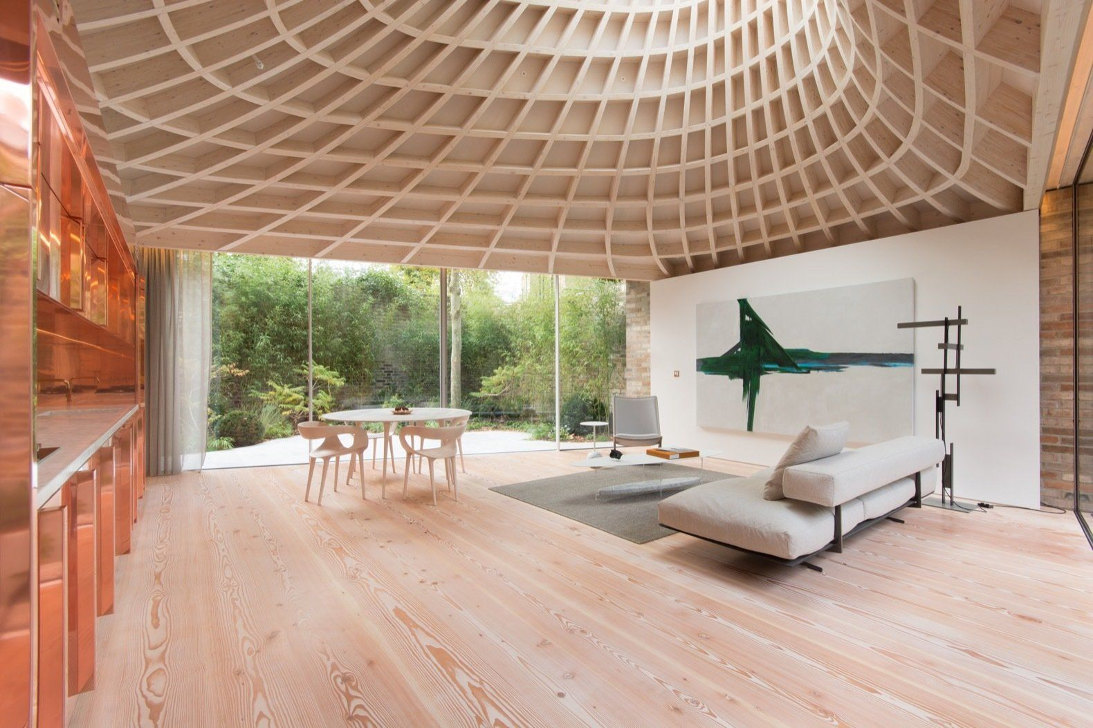 Photo 6 Of 16 In A Dramatic Copper Roof Funnels Light Into This Luxury Homes House Luxury Property