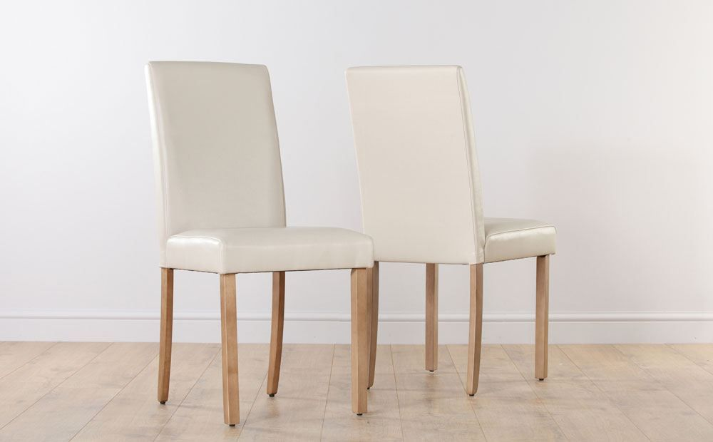 Ivory Leather Dining Room Chairs Classy City Ivory Leather Dining Chair Oak Leg Dining Room  Home Inspiration Design