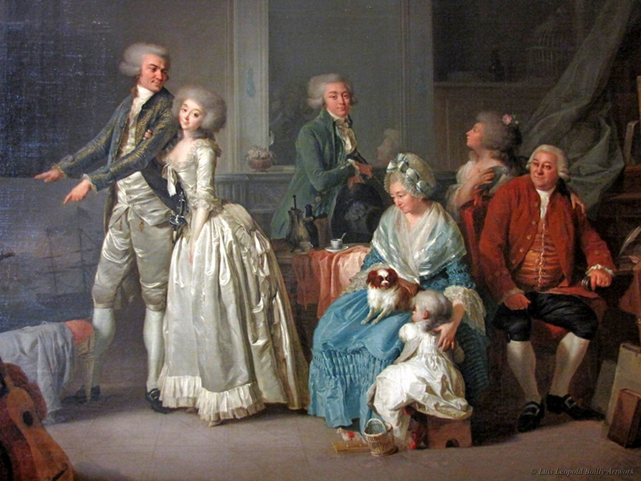 la famille gohin by louis leopold boilly   1787