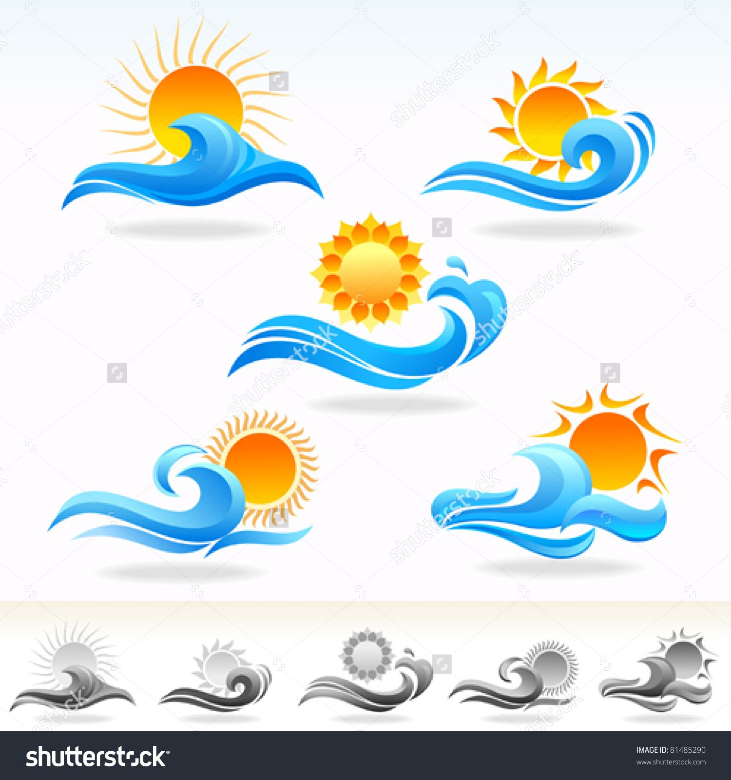 sea icon Google Search Waves symbol, Waves tattoo