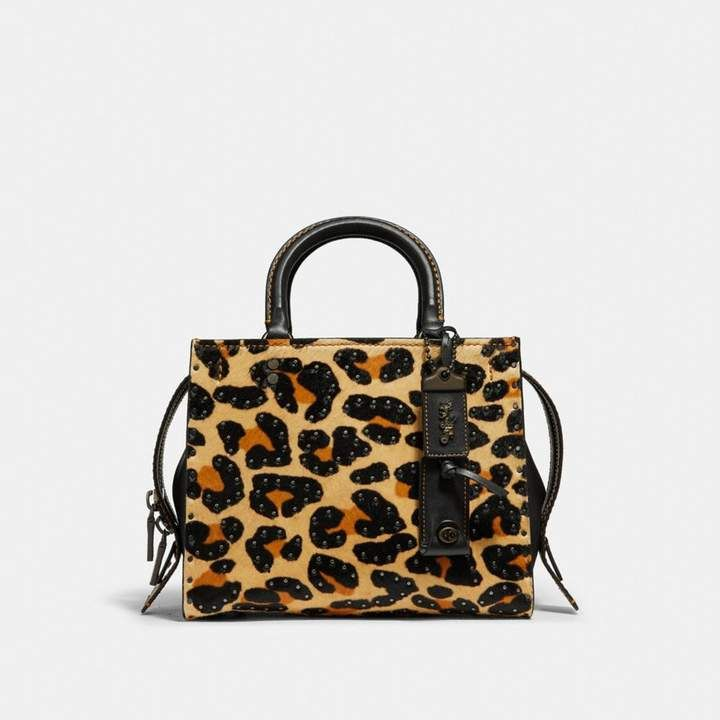 Coach Edie Shoulder Bag 42 With Embellished Leopard Print  e78a4b378a086