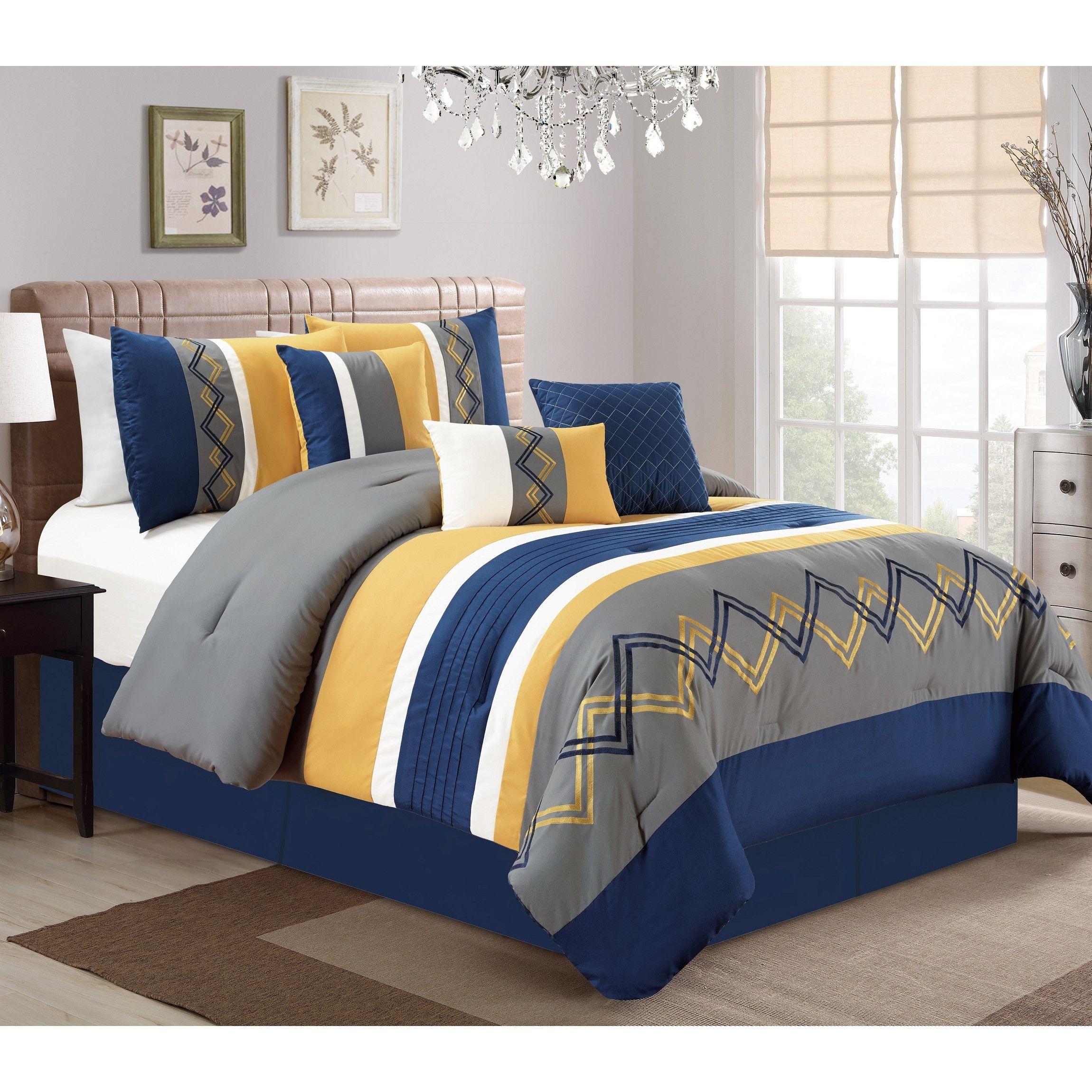 Home Corey 7 Piece Comforter Set Comforter sets