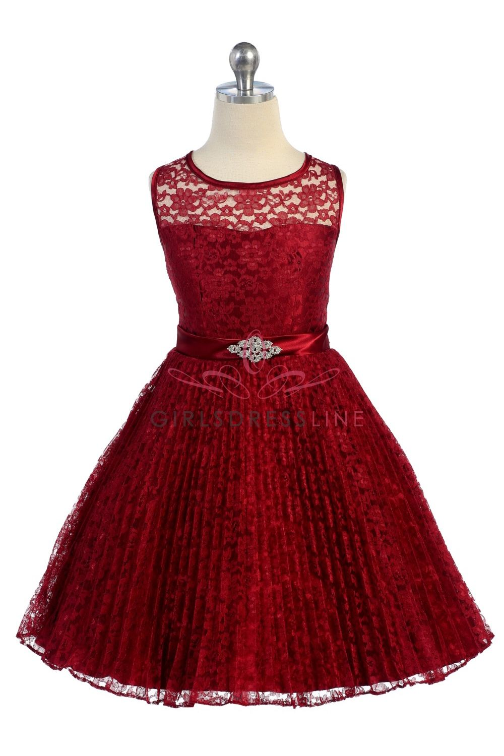 burgundy lace pleated flower girl dresses perfect