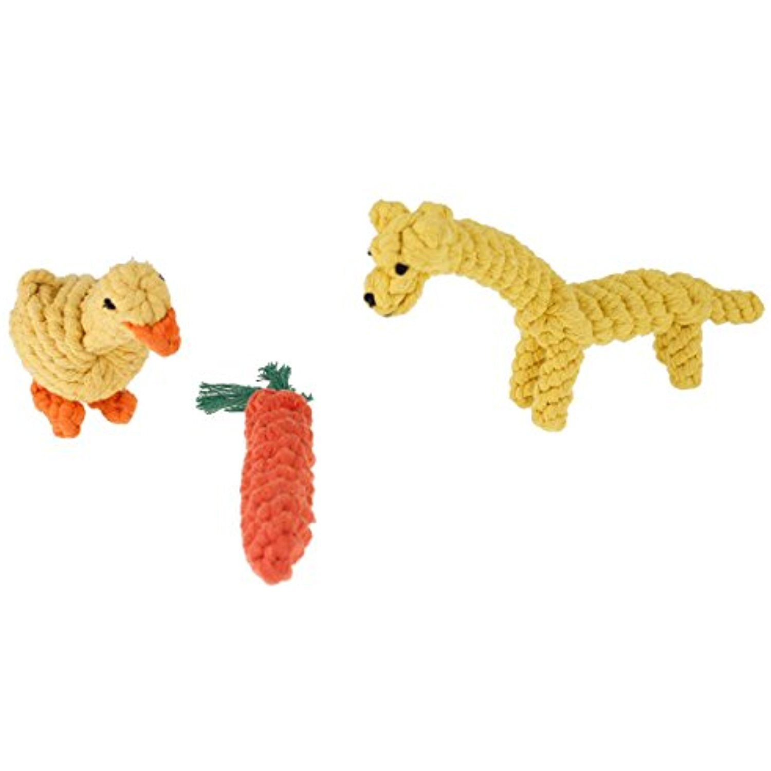 3 Pack Dogs Chew Toy Animal Design Cotton Rope Dog Toys With Puppy