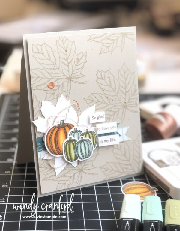 Artsy Fartsy Card feat. Stampin' UP! Gather Together #stampinup!cards
