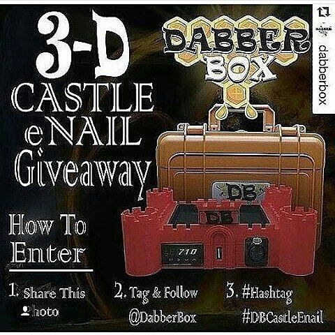 #Repost @janet_dabberbox with @repostapp i hope I win  It's March Madness!!!!!! A new year brings a new  @dabberbox #giveaway!!!! We are giving away one of our brand new Red #3DPrinted custom #DB Castle Shaped ENail!  Fitted with a 16mm XLR beaded heating cool and USB charge port this enail is all you need for a proper dabbing station!  ENTER WITH 3 EASY STEPS!! 1. Share this photo  2. FOLLOW & TAG @DABBERBOX 3. Must hashtag #DBCastleEnail  WINNER WILL BE CHOSEN (04.14.16)  Must be 18 years…
