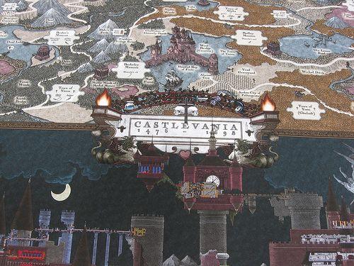 Castlevania World Map.Castlevania Map Color Castlevania Haven Pinterest Video