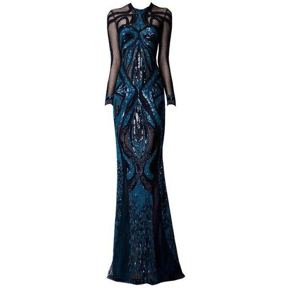 EDWARD ARSOUNI edited by metalheavy ❤ liked on Polyvore featuring dresses, gowns, long dresses, blue evening gown, zuhair murad dresses, zuhair murad evening gowns and blue ball gown