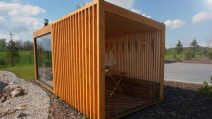 gartensauna saunahaus outdoor sauna 4 50m x 2 30m in baden w rttemberg neckarsulm ebay. Black Bedroom Furniture Sets. Home Design Ideas