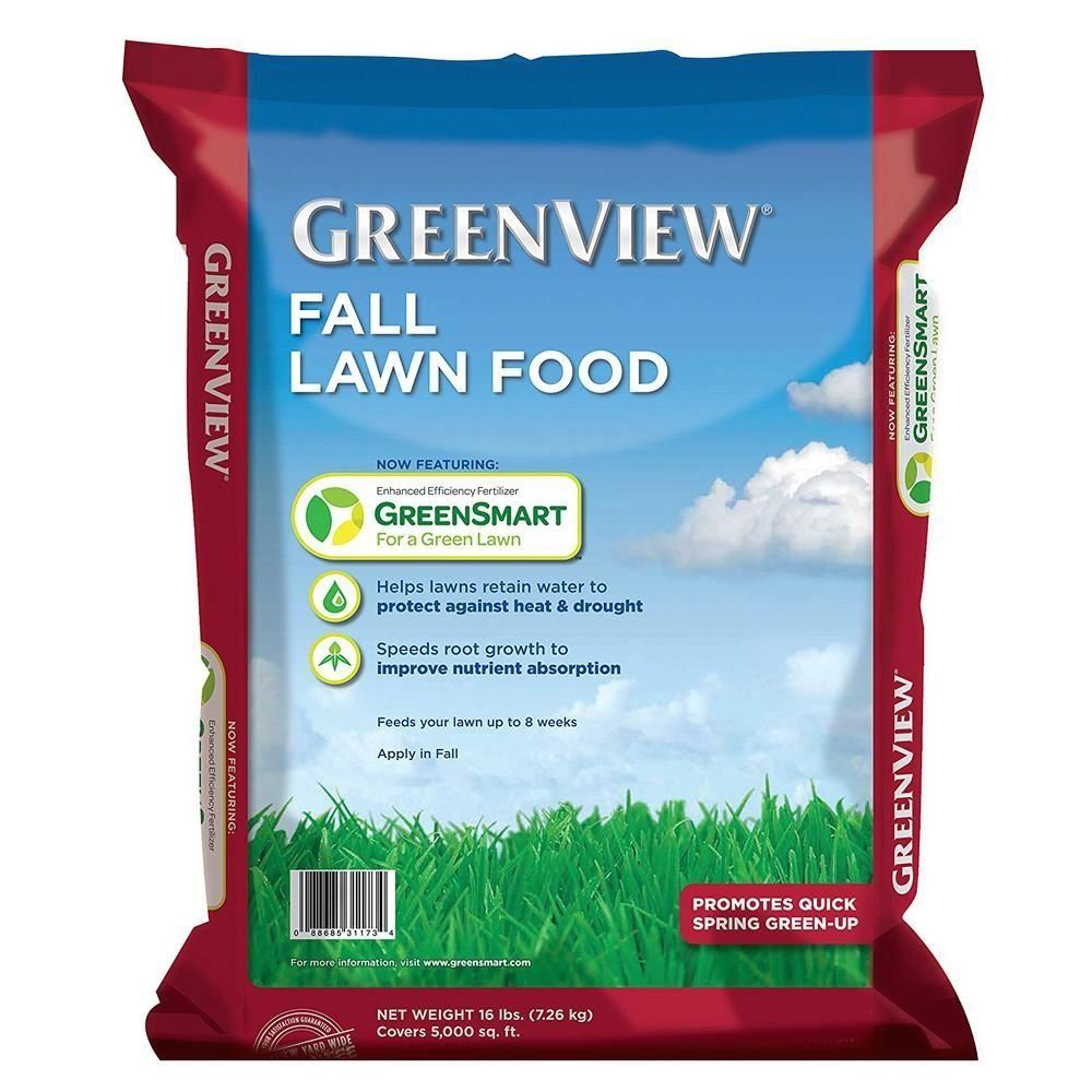 GreenView 16 lbs. Fall Lawn Food2131182 The Home Depot