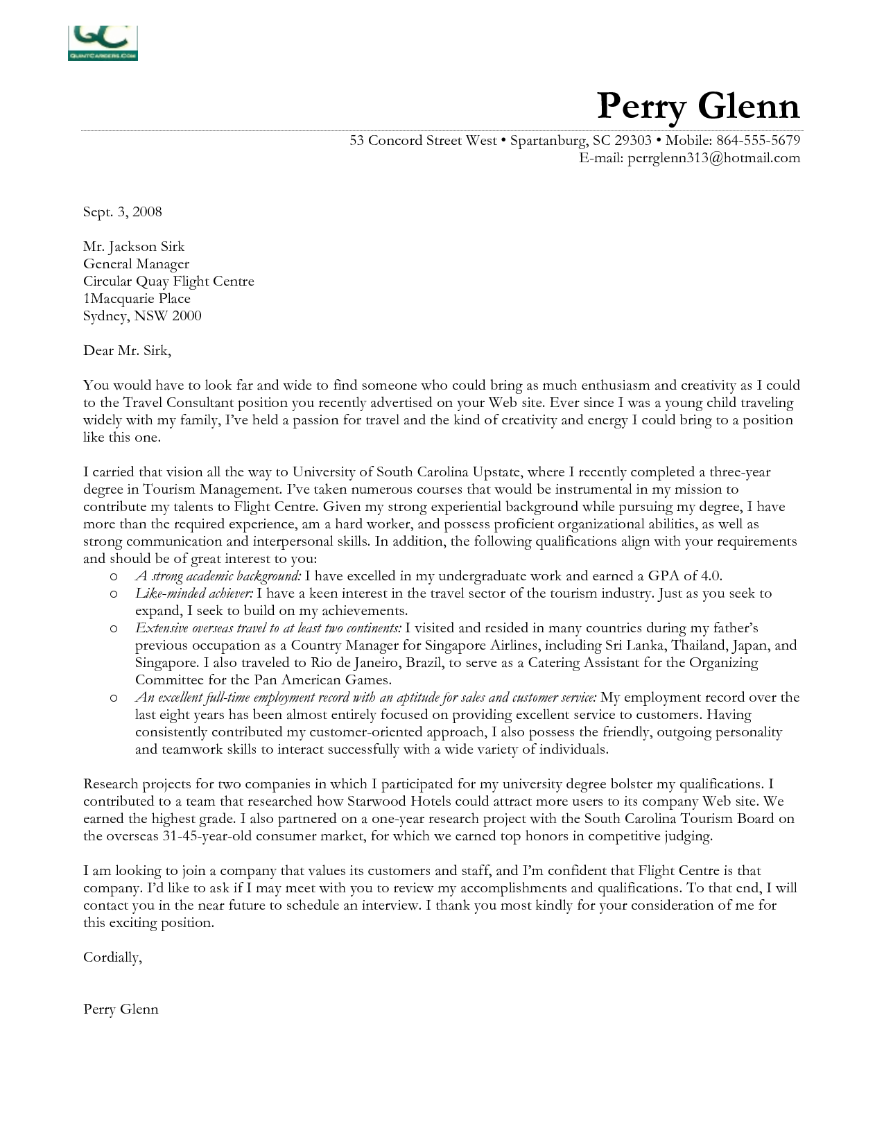 Cover Letter Template Consulting | Informative essay ...