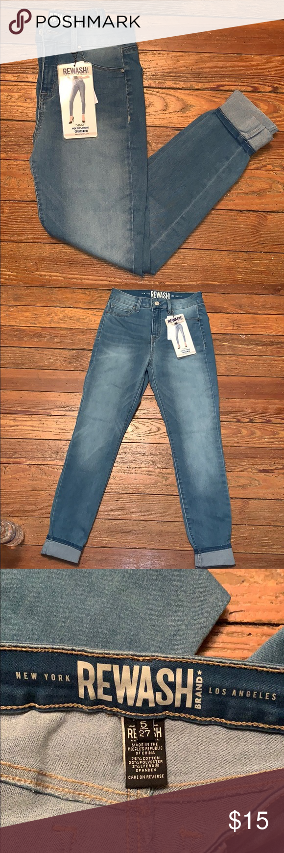 c14073c743552 REWASH Nikki High Rise Jeggings Beautiful jeggings, stretchy and high  waisted. Size 5/27 Rewash Jeans Skinny