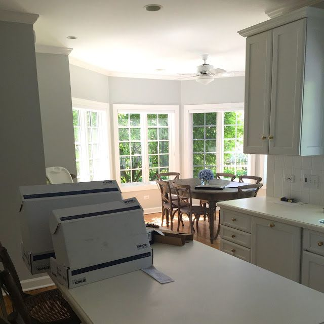 Gray Owl Kitchen: Gray Owl Nantucket Style Family Room And Kitchen