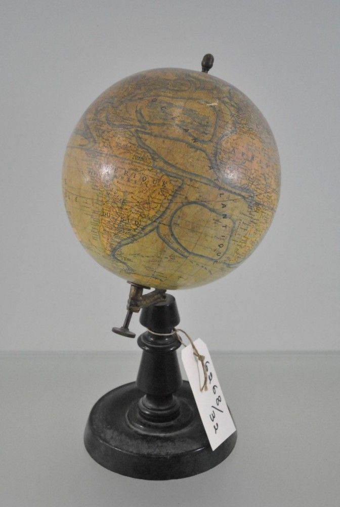Papier mache world globe on wooden stand c1900 i love world papier mache world globe on wooden stand antique maps gumiabroncs Image collections