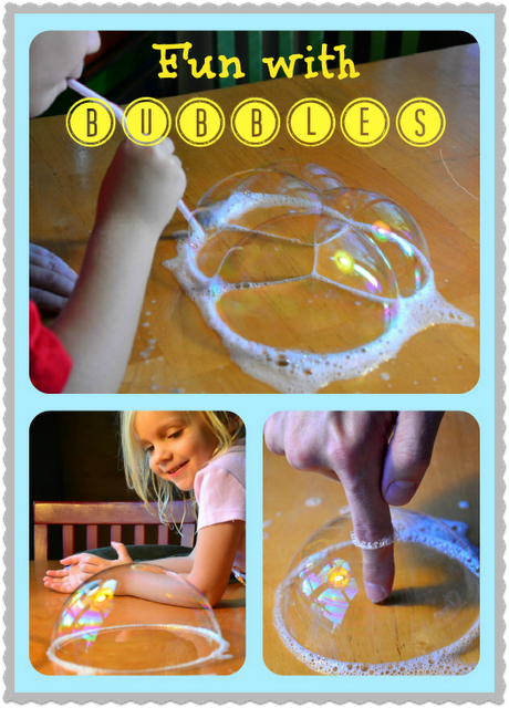 Mad Bubble Scientist: Everyday Ingredients, Amazing Results! {In Lieu of Preschool}