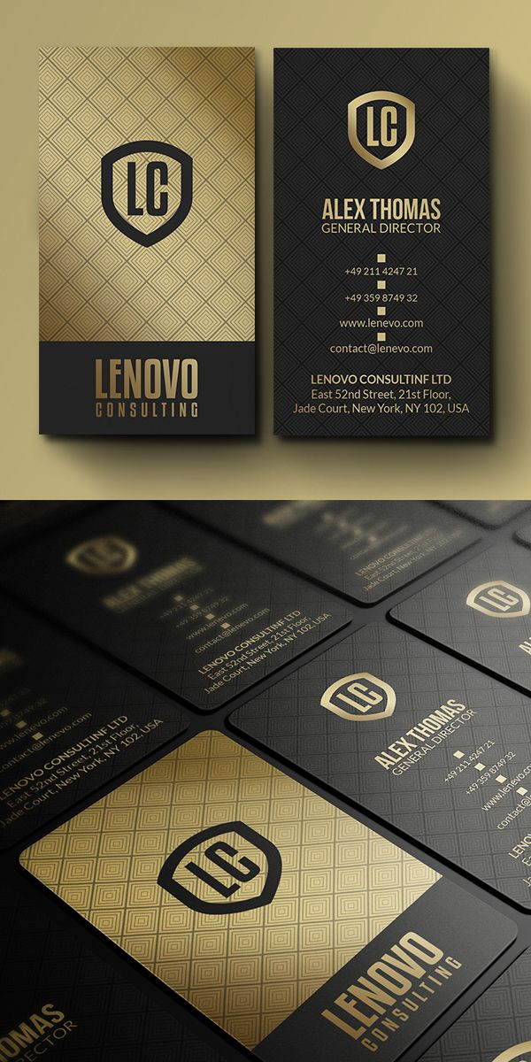 Premium Gold And Black Business Card Businesscards Branding Visitingcard