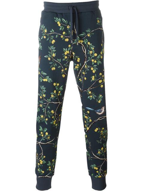 08d07a308485c DOLCE   GABBANA Bird Print Track Pants.  dolcegabbana  cloth  pants ...