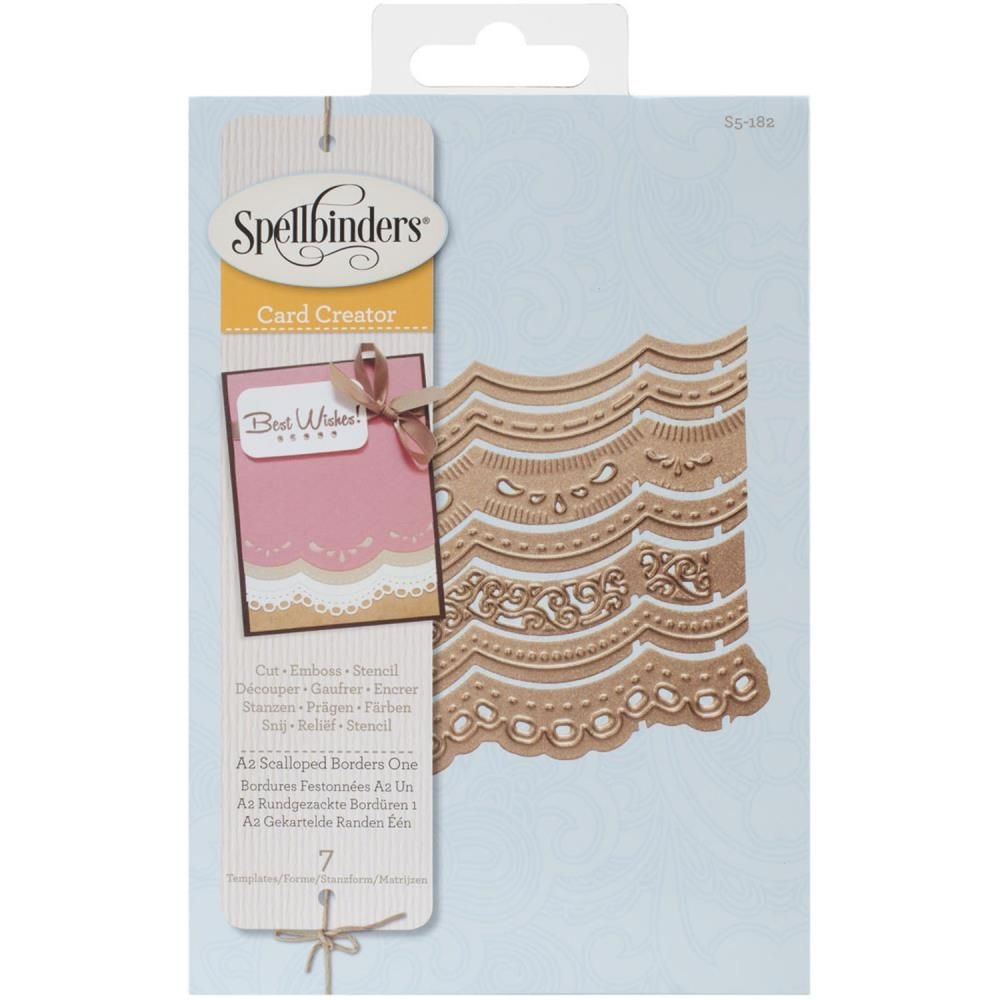 A2 Scalloped Borders One - S5-182