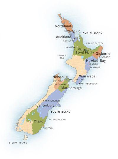 Vin Et Vignoble De Nouvelle Zelande Region Viticole Zelande