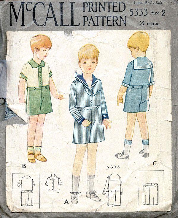 McCall 5333 | Vintage Patterns-Baby & Children\'s | Pinterest