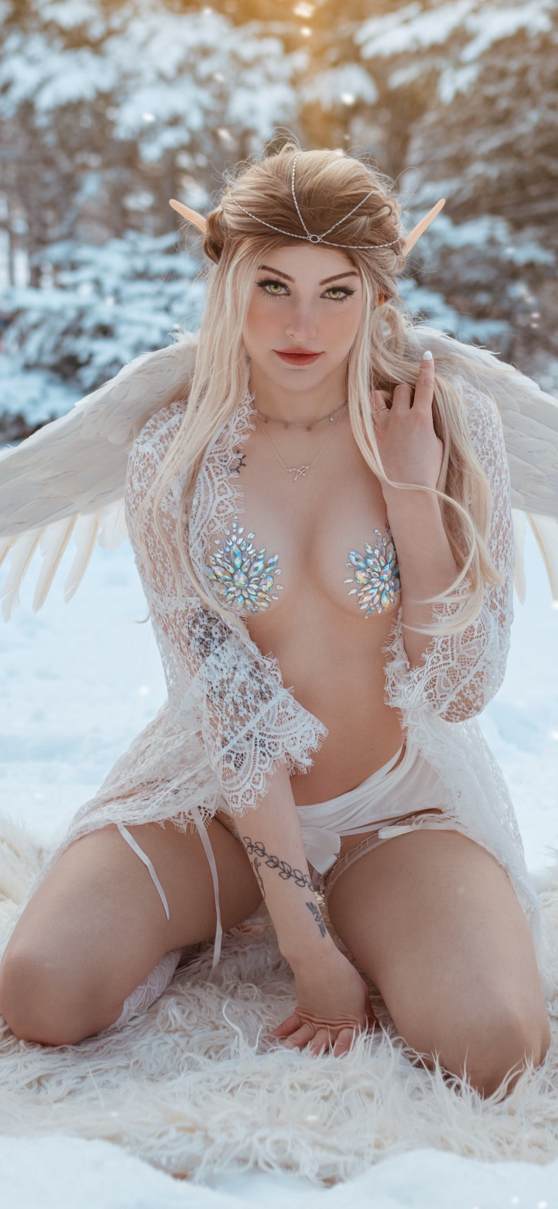 bikinis in snow Iwitness angels