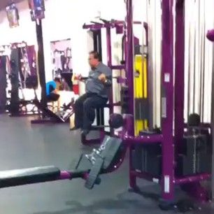 Some Dude Riding The Assisted Pull Up Machine As If He Were At An Amusement Park Planet Fitness Workout Gym Fail Planet Fitness Machines