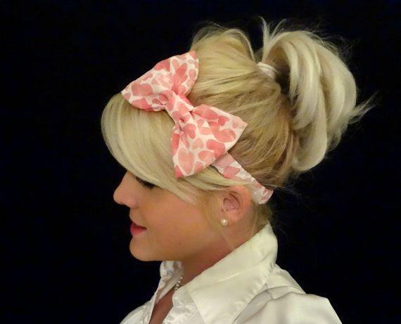 Valentine bow headband