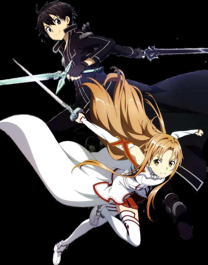 Cool render of Kirito and Asuna. Sword art online asuna