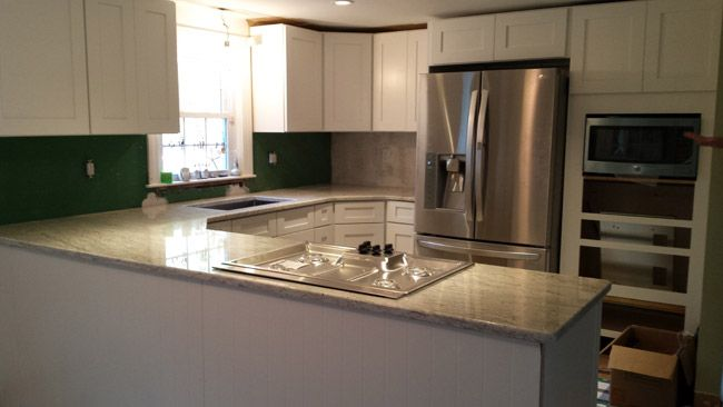 """ I purchased the Ice White Shaker door style pre-assembled kitchen cabinets. Kitchen Cabinet Kings was $10,000 cheaper than Lowe's for identical cabinets."" ~  George Desreuisseau 