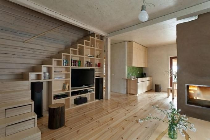 Contemporary Tv Cabinet Design Of The Space Under Stairs As Well