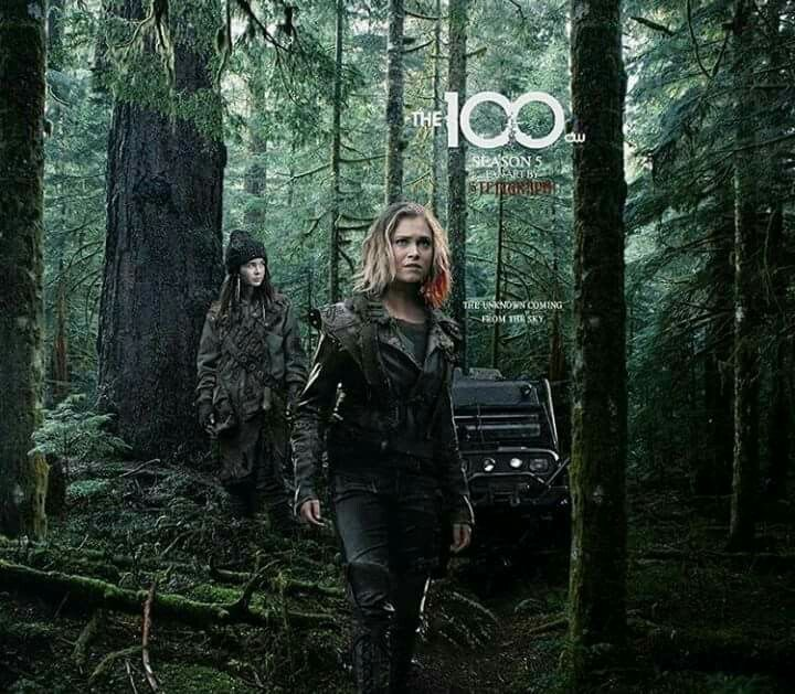 Clarke And Madi The 100 Season 5 Poster Com Imagens Bellarke