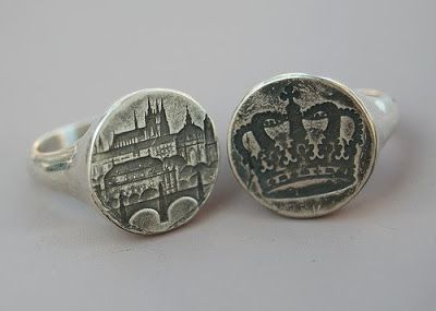 Blind Spot Jewelry on Etsy wax seal rings! - I wonder if they could do Asheville...