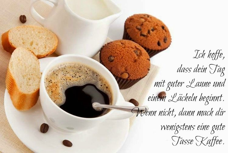 tasse kaffee und muffins zum fr hst ck guten morgen. Black Bedroom Furniture Sets. Home Design Ideas