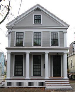 Front Door Is Hidden Benjamin Moore Chelsea Gray Nouveau Chateau