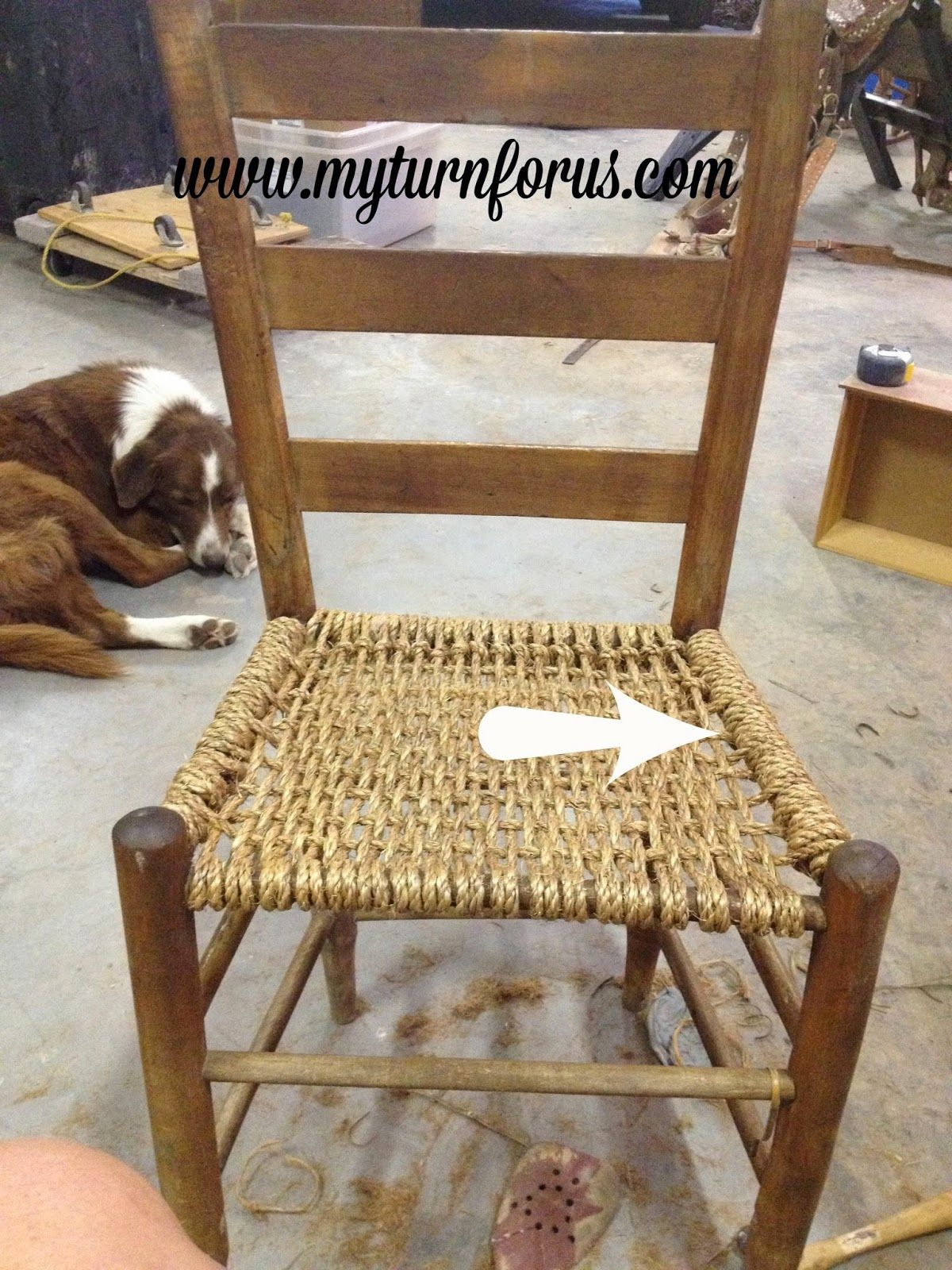Rope Bottom Chair Wooden Chairs For Kitchen My Turn Us Or Hemp Bottomed Home Diy