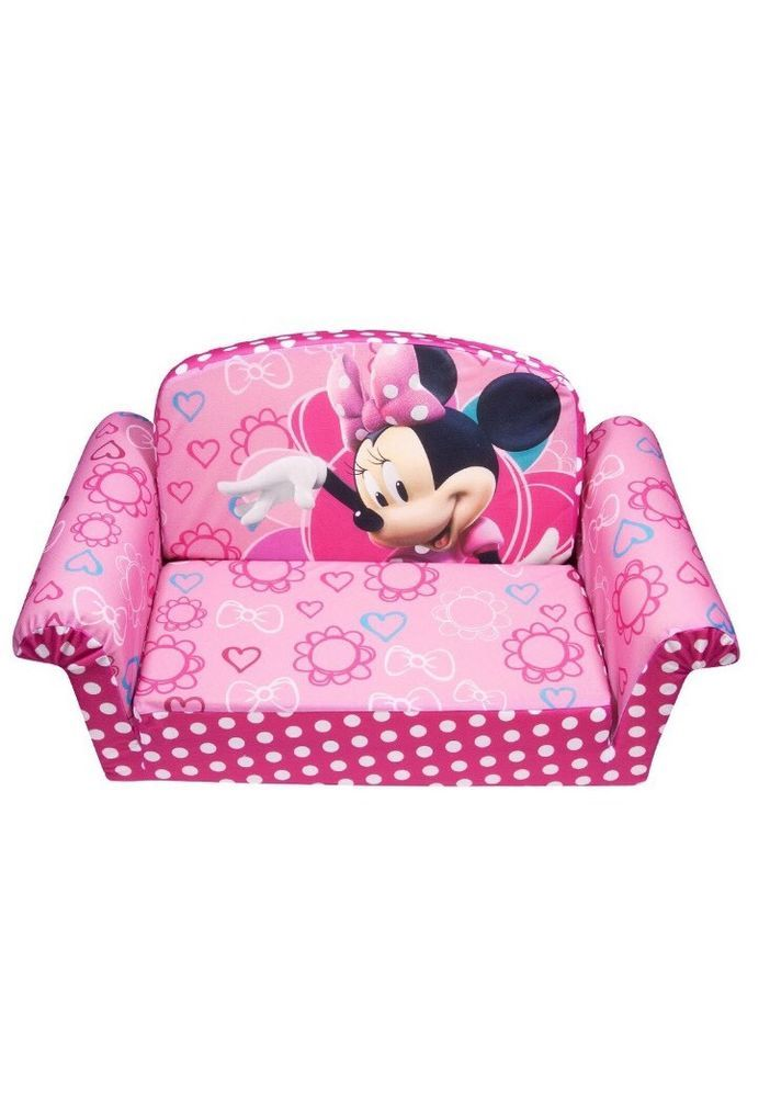 Couch Flip Open Sofa Mini Minnie Mouse Lounger Toddler Child Kids