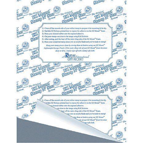 Ezmount Static Cling Mounting Foam 8 5x11 10 Pkg Gray Foam 7497973 Hsn Static Cling Foam Sheets Clear Acrylic Stamps