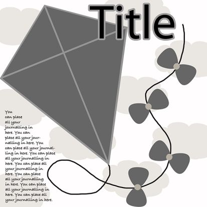 Free Kite Digital Scrapbooking Template  Kites Digital