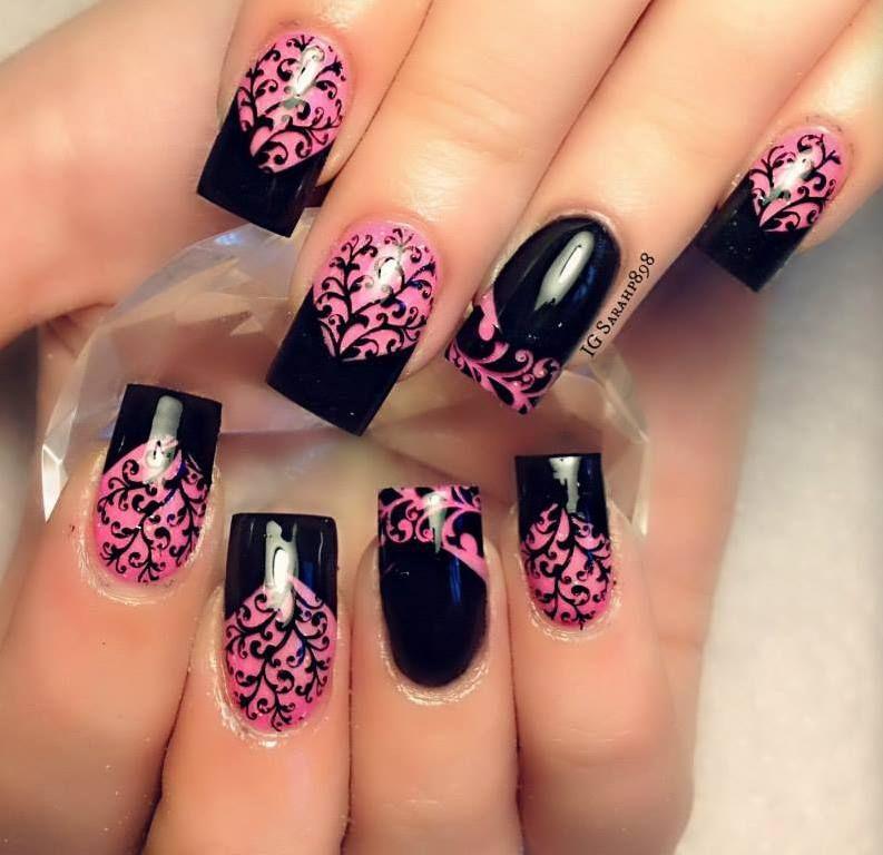 Nails Arts For Ladies... | Nails | Pinterest | Accent nails, Black ...